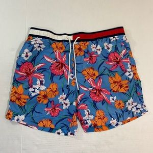 Tommy Hilfiger Floral Flag Logo Swim Trunks XL